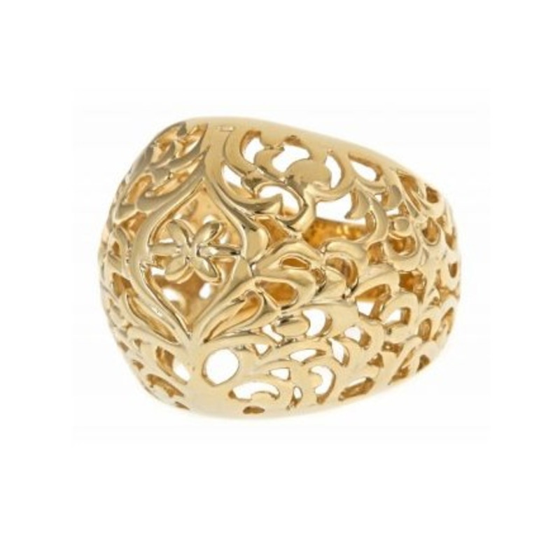 Isharya Gold Jaali Filigree Band Ring