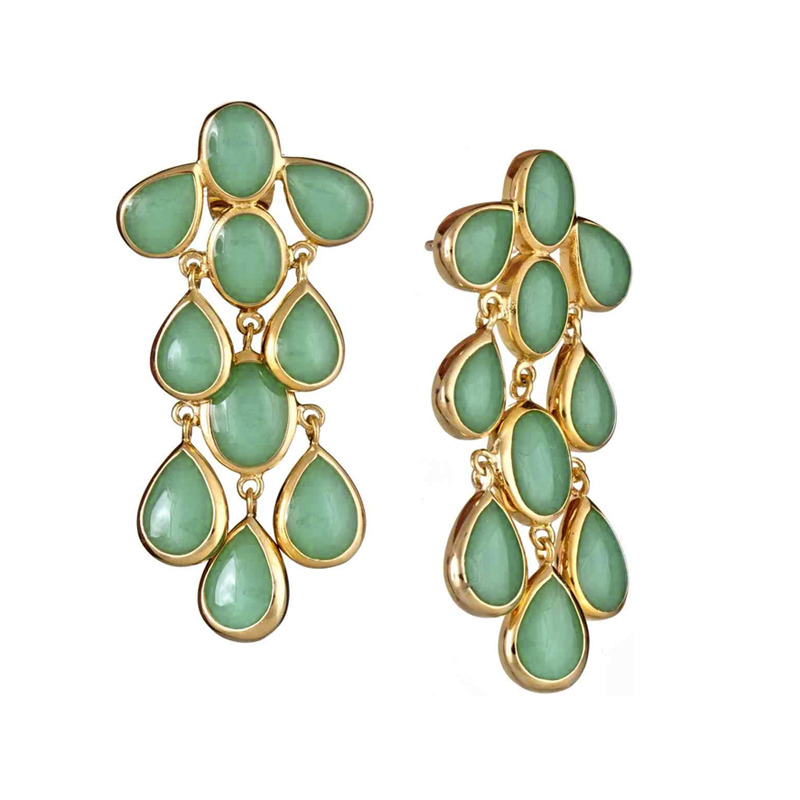 Isharya Sea Foam Cascade Enamel Earrings