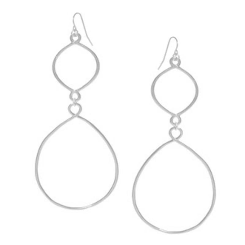 Gorjana Avery Drop Earrings in White Gold
