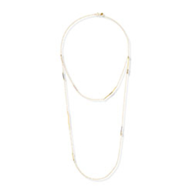 Gorjana Ava Long Layered Necklace in Mixed Metals