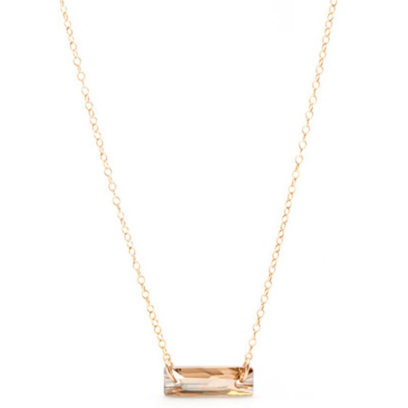 Gorjana Swarovski Crystal Bar Necklace