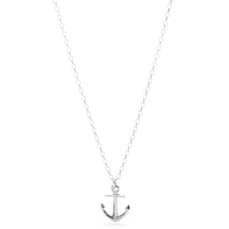 Gorjana Anchor Necklace in Silver