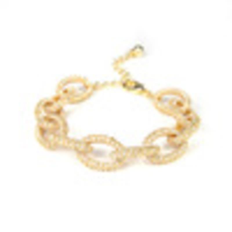 Urban Gem Pave Link Chain Bracelet
