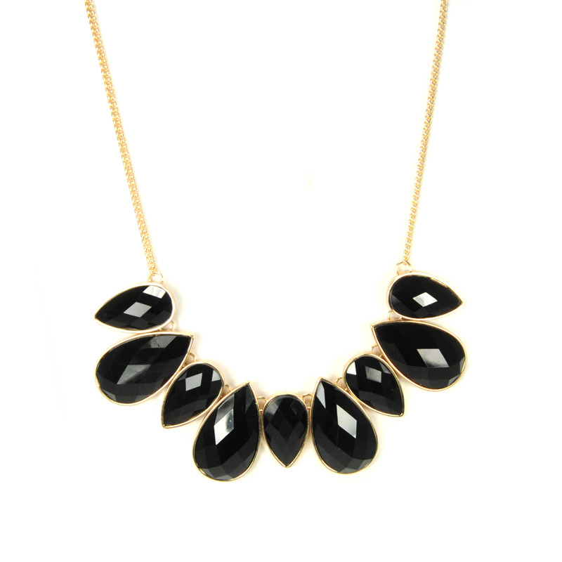 Urban Gem Dropping Hints Faux Stone Necklace