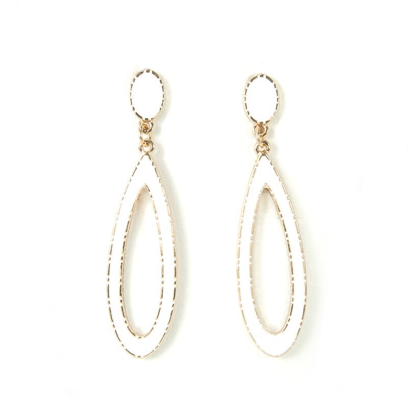 Urban Gem Open Drop Enamel Earrings