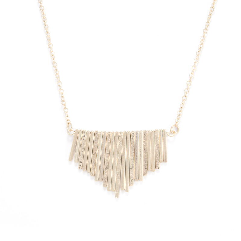 Urban Gem Between The Lines Necklace in Gold