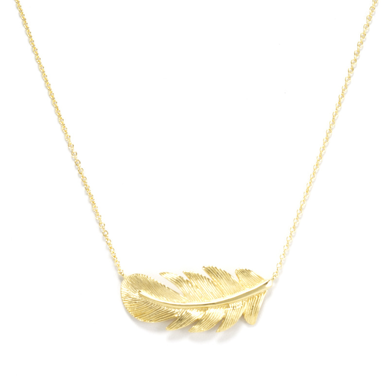 Urban Gem Light as a Feather Necklace in Gold