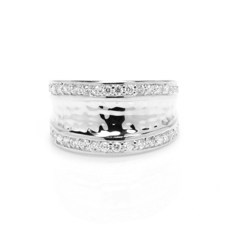 Anuja Tolia Inverted Shield Ring in Silver