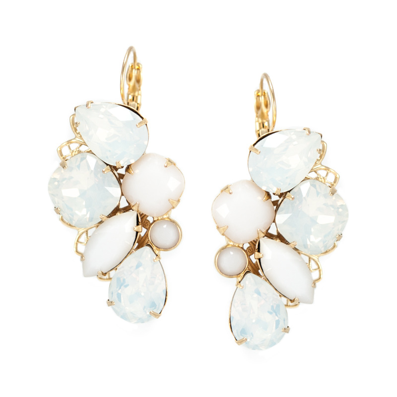 Liz Palacios Radiance Earrings in White
