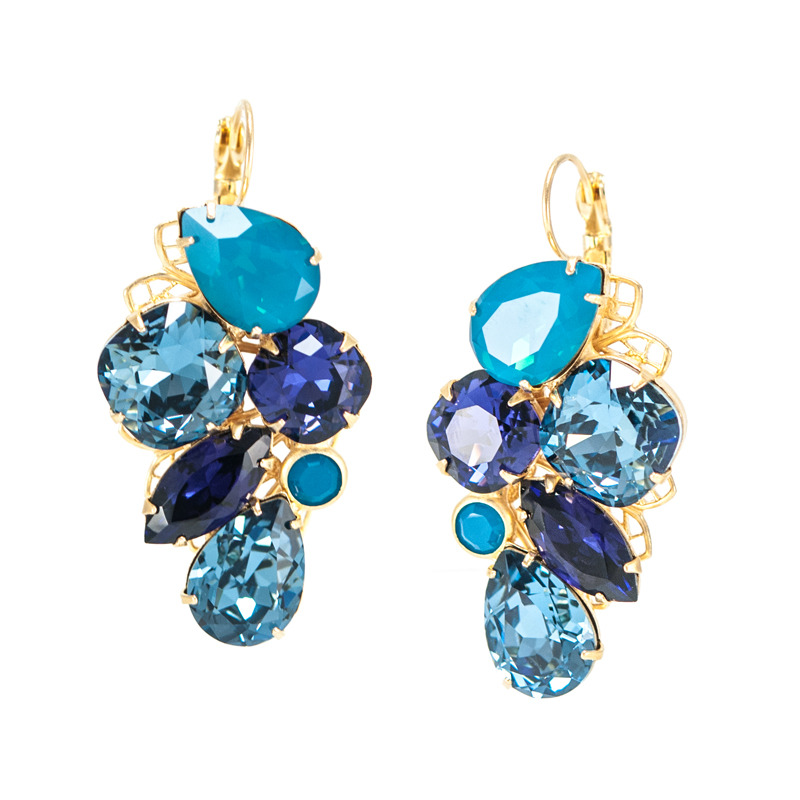 Liz Palacios Radiance Earrings in Blue