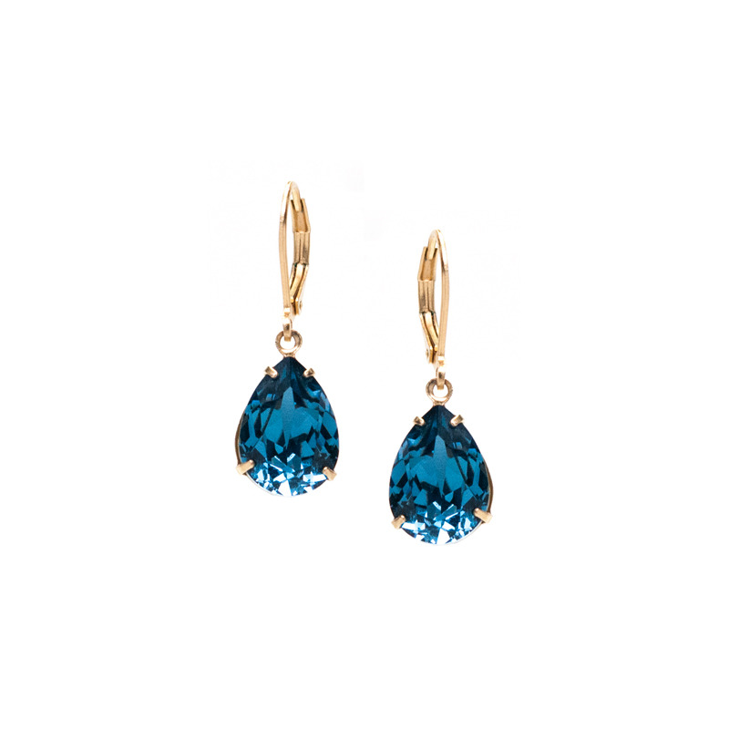 Liz Palacios Classic Teardrop Earrings in Denim