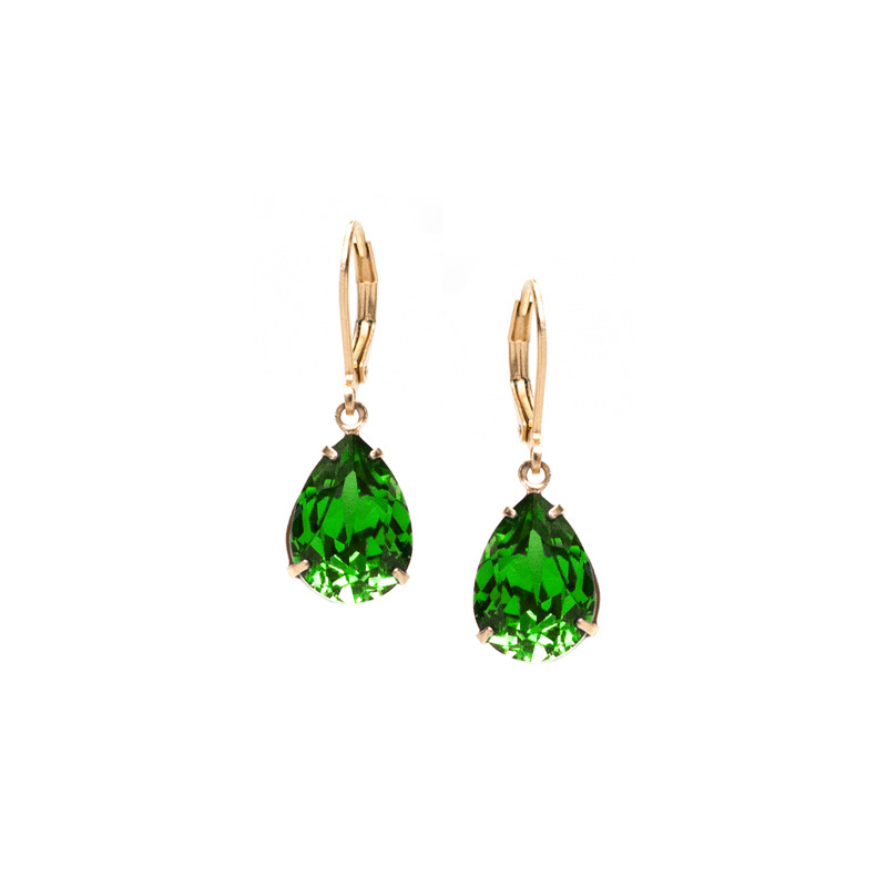 Liz Palacios Classic Teardrop Earrings in Fern