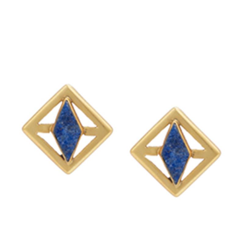 Edge of Ember Rumi Earrings in Lapis