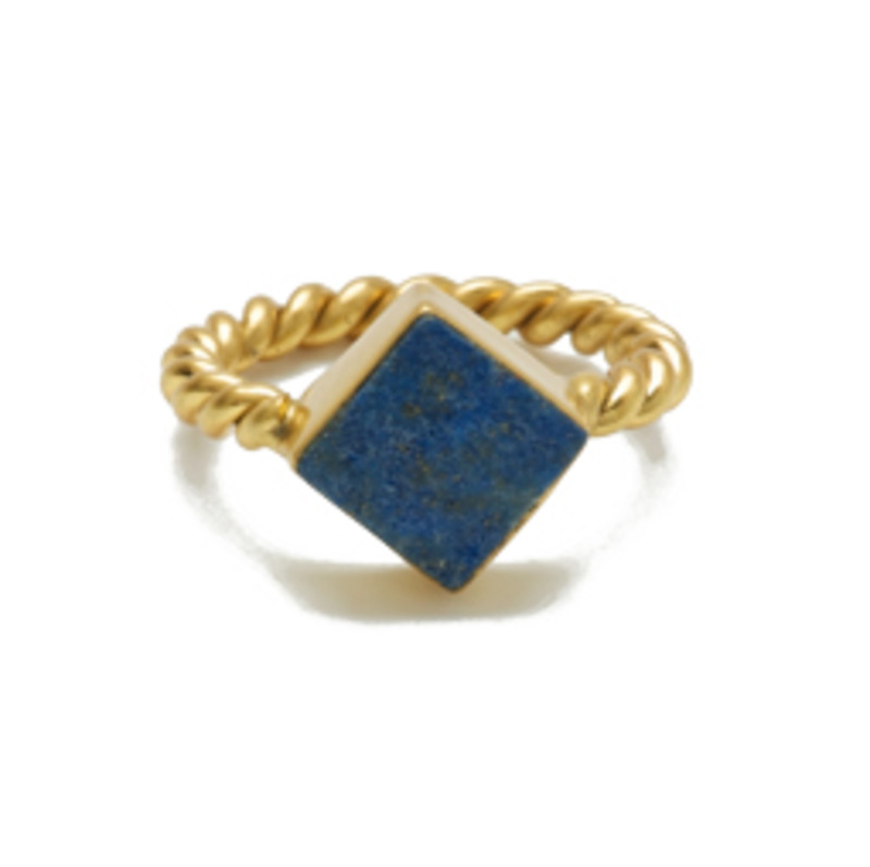 Edge of Ember Vanna Ring in Lapis