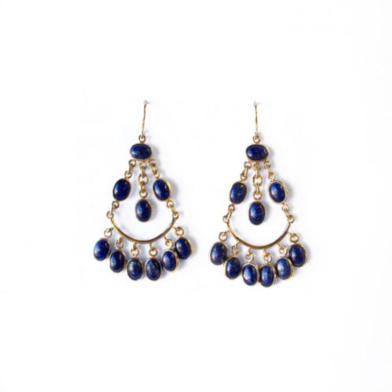 Isharya Gypsy Joy Earrings in Lapis