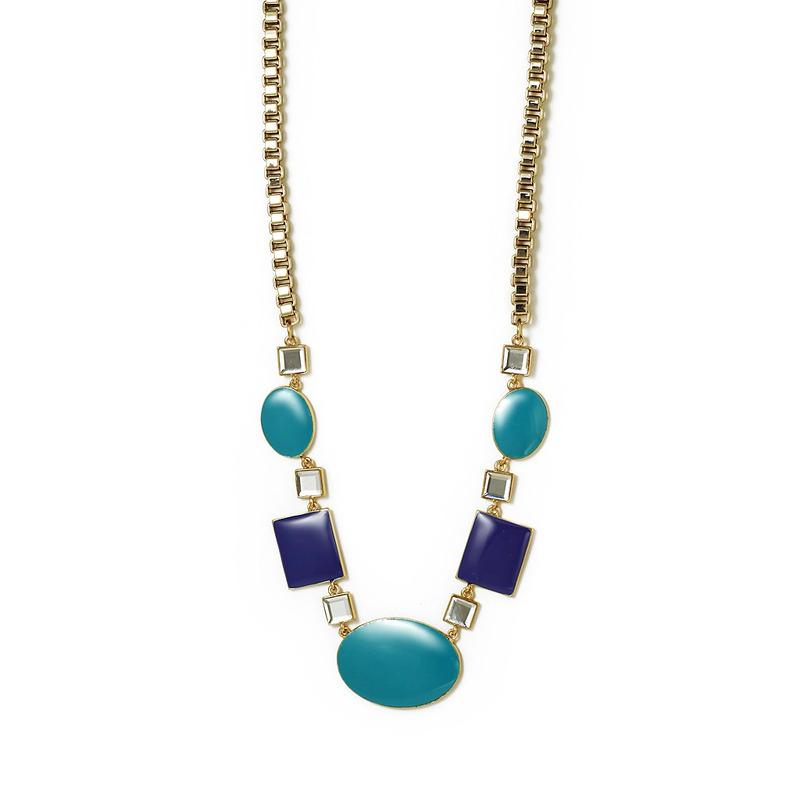 Isharya Shaded Blue Indian Summer Tango Necklace