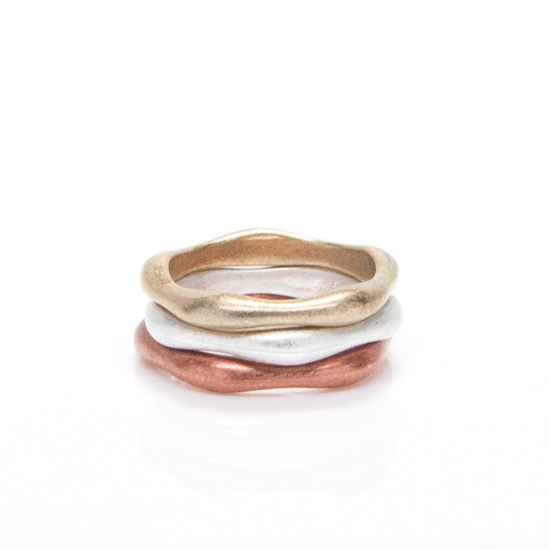 Urban Gem Mixed Metal Stacking Rings