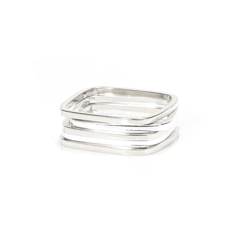 Gamine Zara Rings in Silver