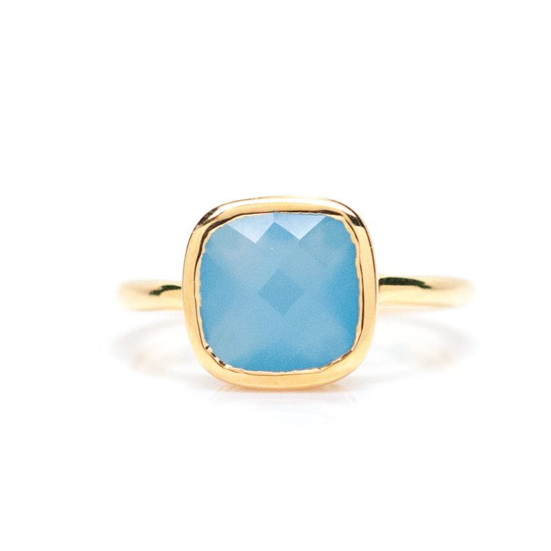 Gamine Rami Ring in Blue Chalcedony