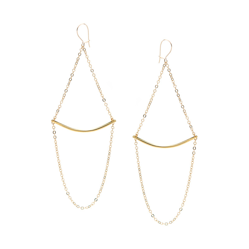 Serefina Pendulum Vintage Chain Earrings