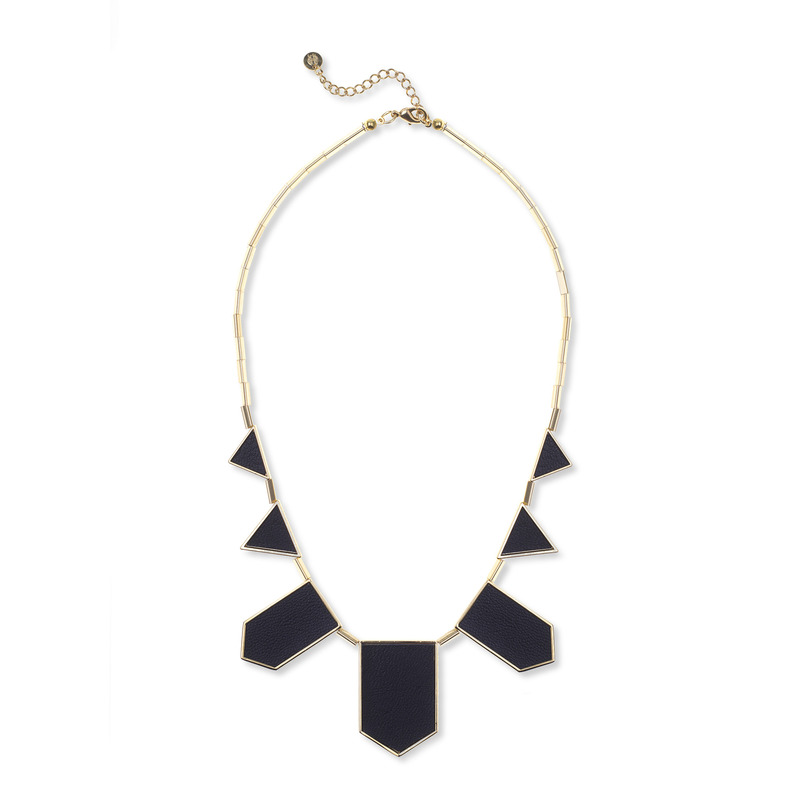 House of Harlow 1960 Five Station Necklace in Black