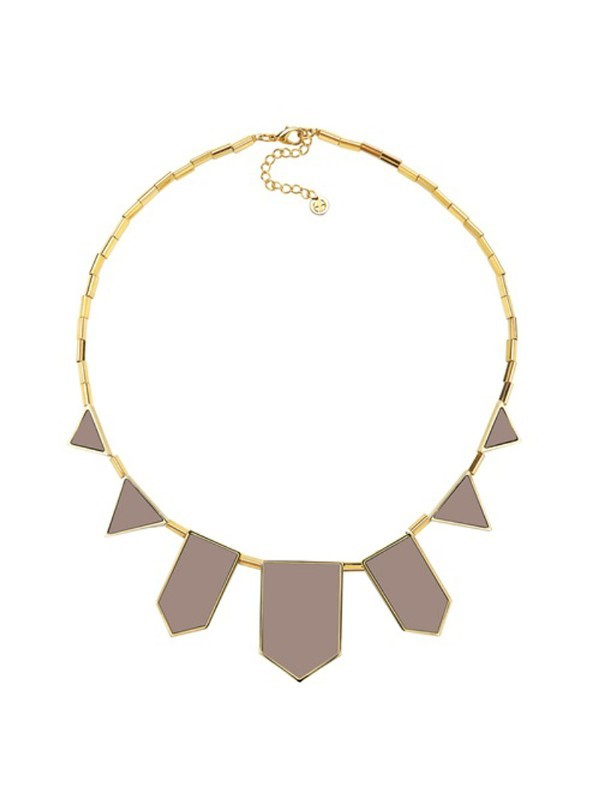 House of Harlow 1960 Five Station Necklace in Khaki