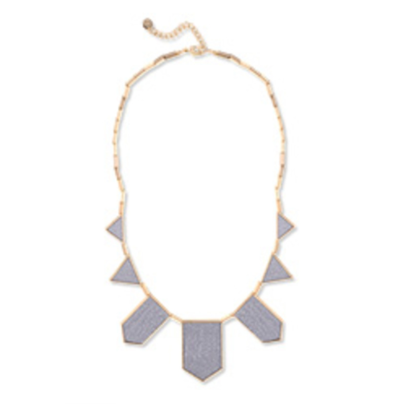 House of Harlow 1960 Five Station Necklace in Sapphire Blue Faux Stingray