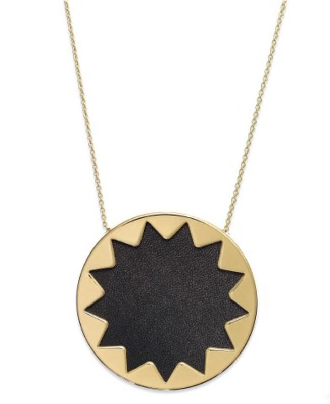 House of Harlow 1960 Sunburst Pendant Necklace in Black