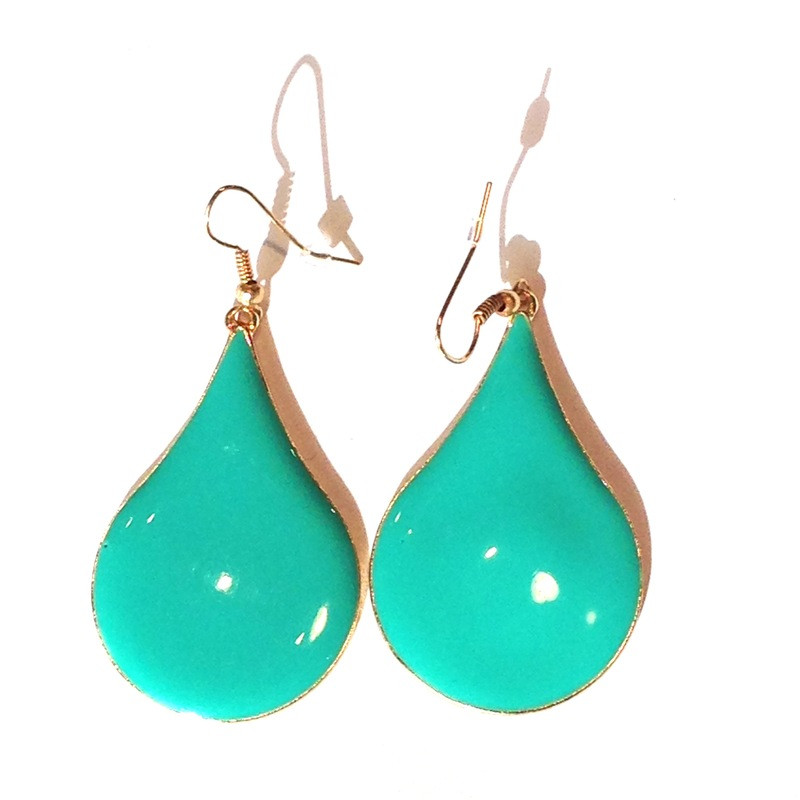 Urban Gem Raindrop Earrings in Turquoise