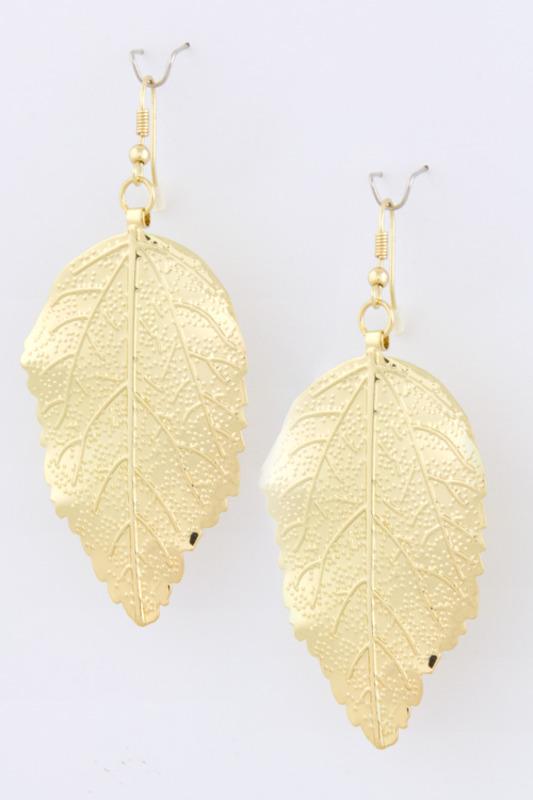 Urban Gem Gilded Leaf Earrings