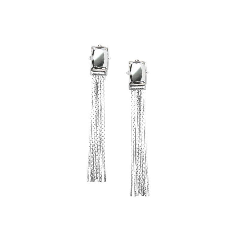 Urban Gem Big Break Earrings in Silver