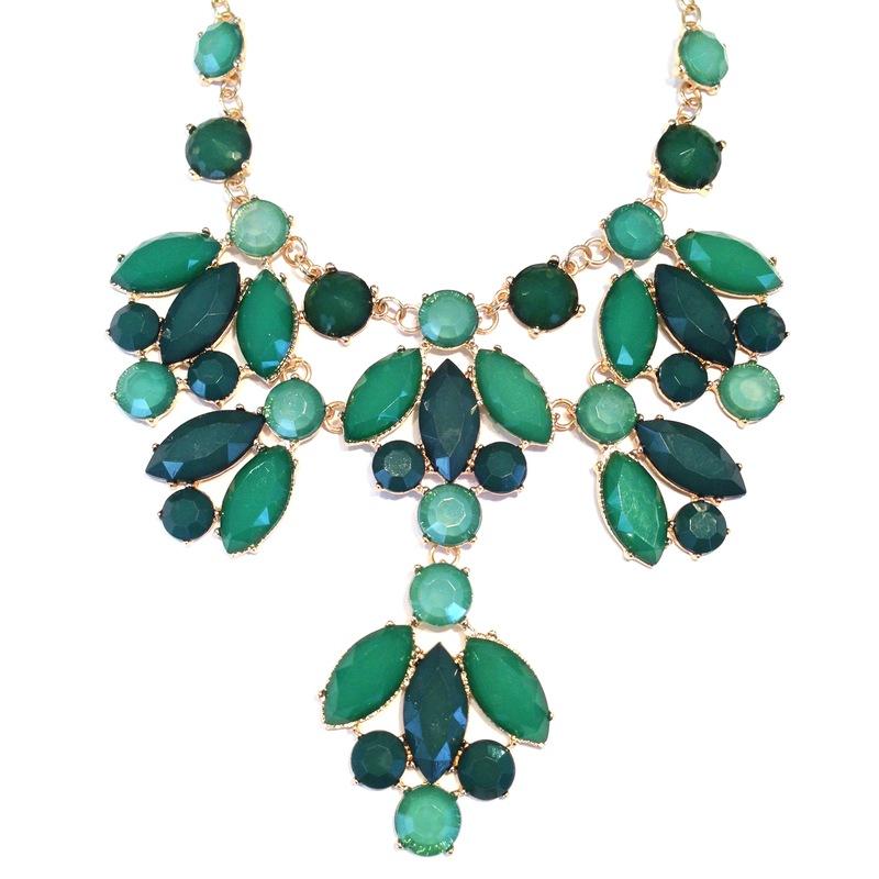 Urban Gem Kensington Palace Necklace in Green