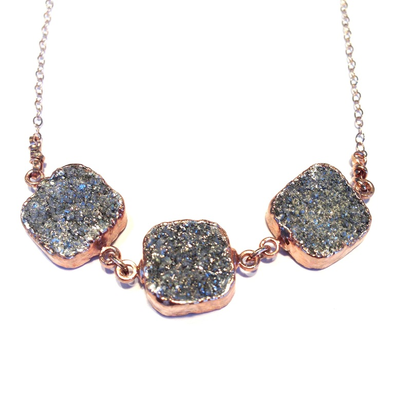 Robyn Rhodes Rocco Necklace in Grey and Rose Gold