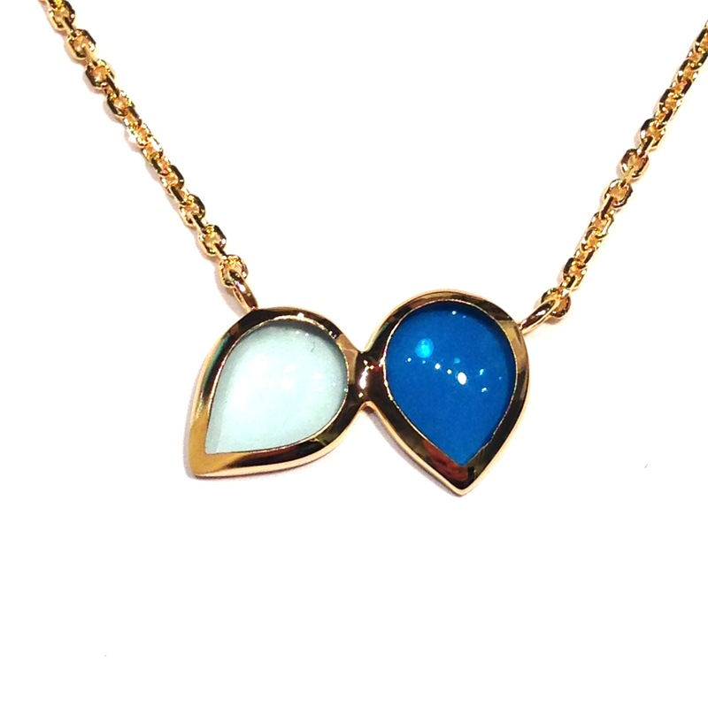 Lucas Jack Double Drop Blues Necklace
