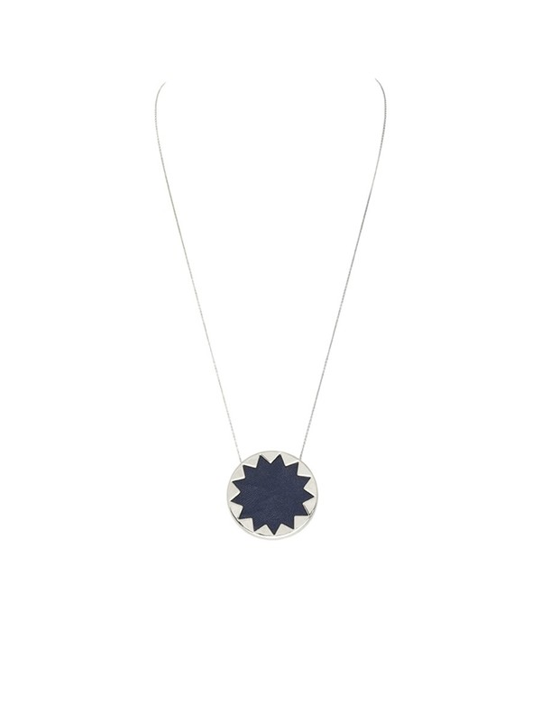 House of Harlow 1960 Sunburst Pendant Necklace in Navy