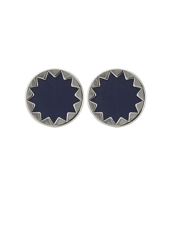 House of Harlow 1960 Sunburst Button Earrings in Navy