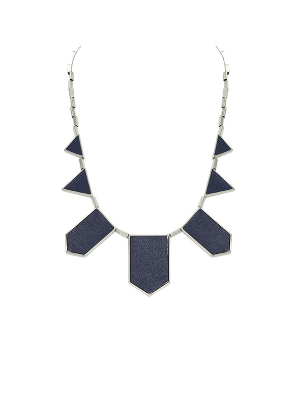 House of Harlow 1960 Five Station Necklace in Navy