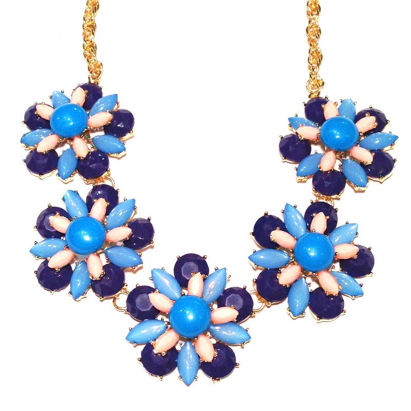 Urban Gem In Bloom Necklace in Blue