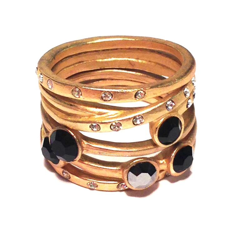 Urban Gem Counting Stars Ring Set in Jet