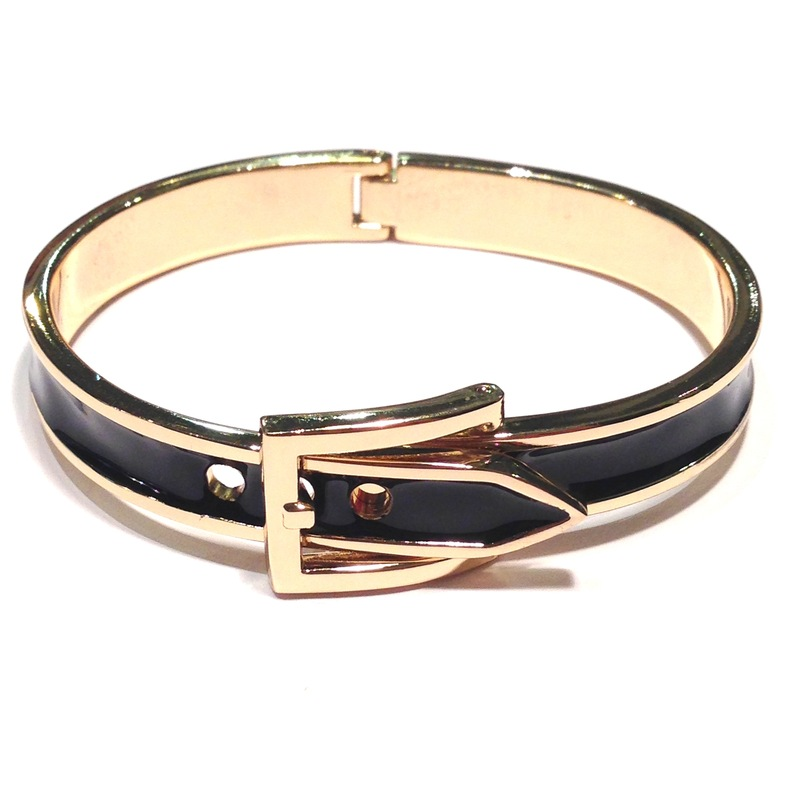 Urban Gem Black Buckle Bracelet