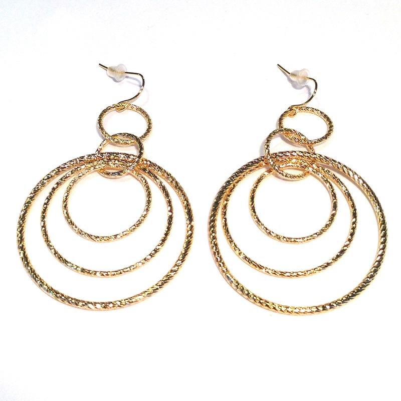 Urban Gem Hoops on Hoops Earrings