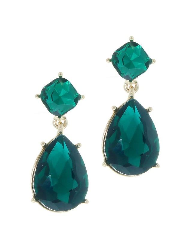 Urban Gem Angelina Emerald Earrings