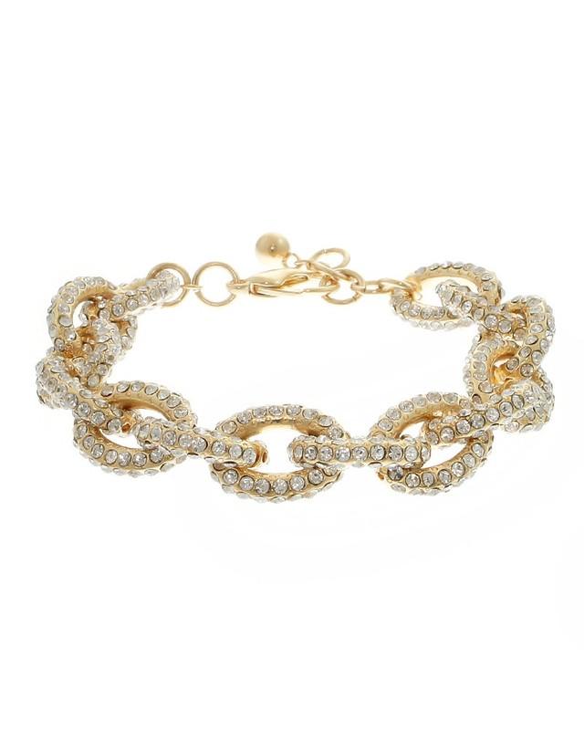 Urban Gem Bling On Bracelet in Gold