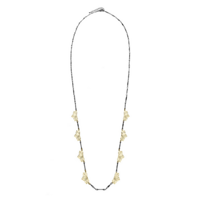 Matterial Fix Long Two-Tone Station Necklace (India Collection)