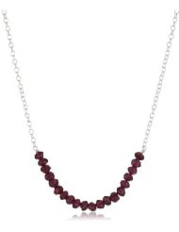 Lotus Jewelry Studio Silver Seed Necklace in Garnet