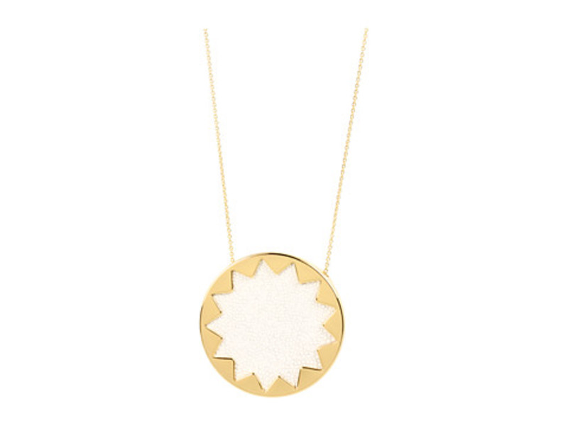 House of Harlow 1960 Sunburst Pendant Necklace in White