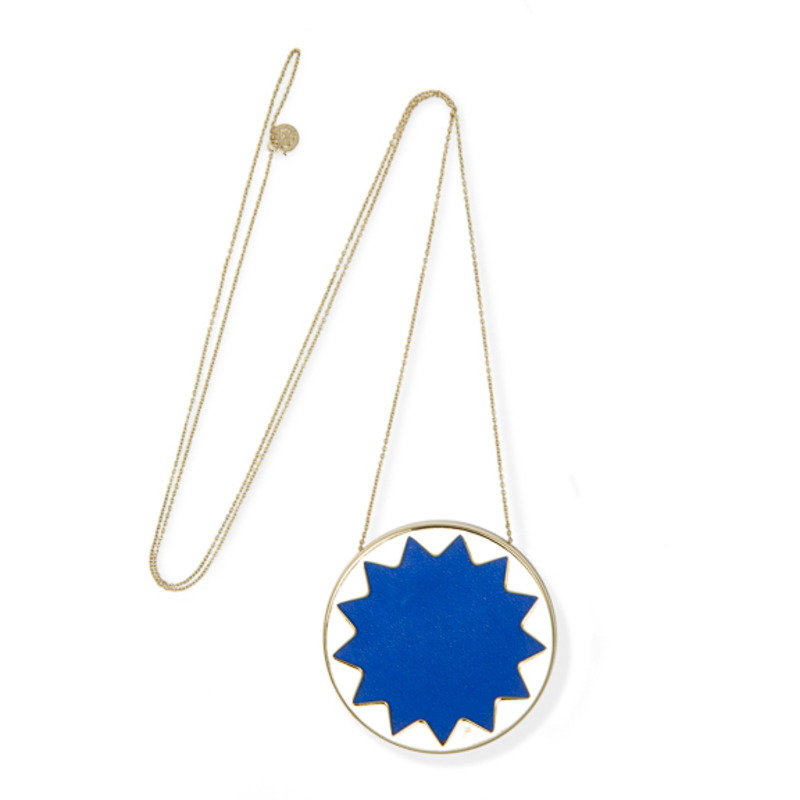 House of Harlow 1960 Sunburst Pendant Necklace in Cobalt
