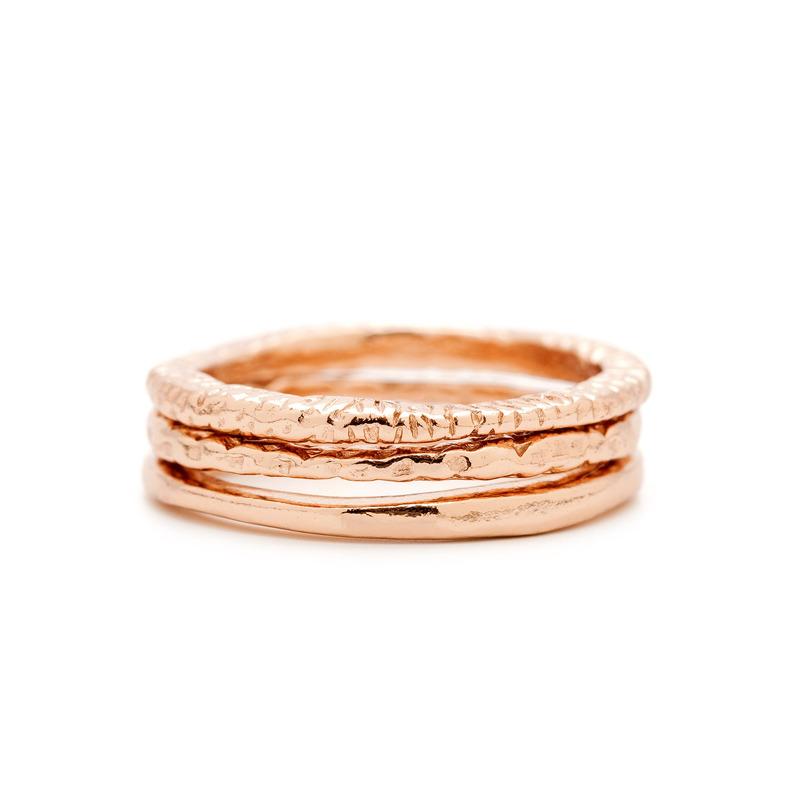 Gorjana Stackable Rings in Rose Gold