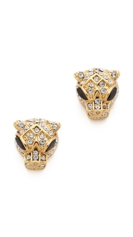 nOir Jewelry Panther Head Earrings