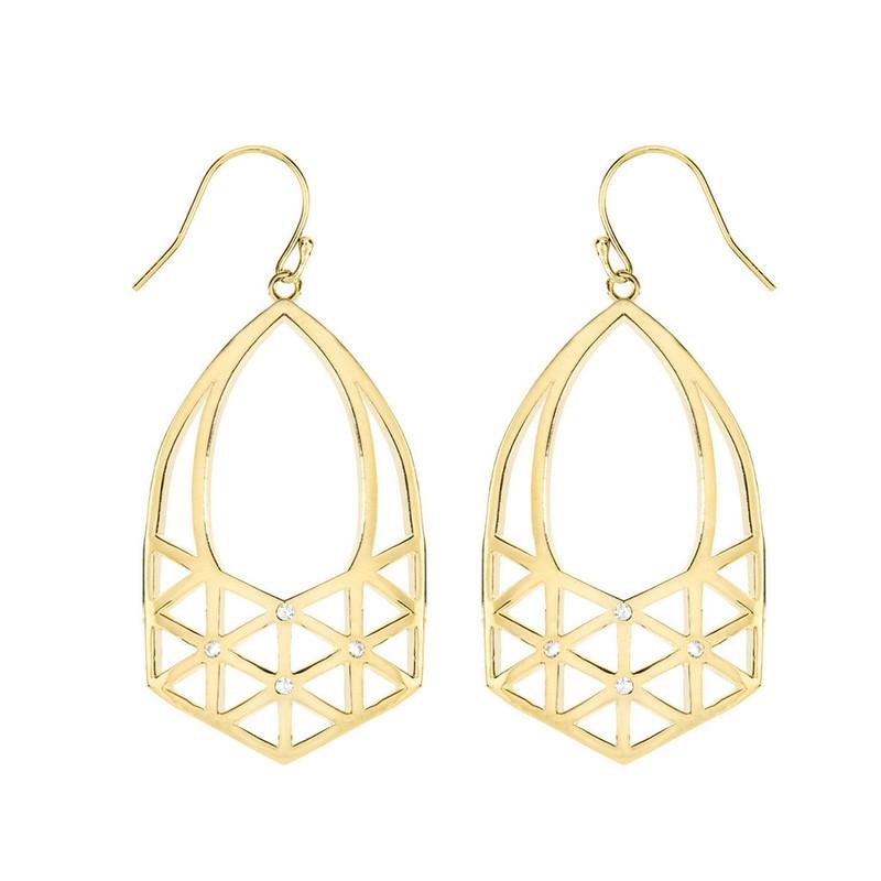 Matterial Fix Lattice Earring in Gold